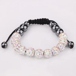 Vienna Jewelry Hand Made Eleven Stone Swarovksi Elements Bracelet- Vivid Light Crystal