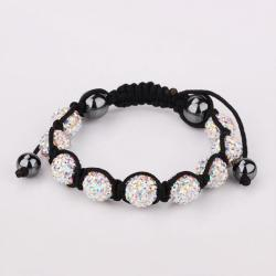 Vienna Jewelry Hand Made Eight Stone Swarovksi Elements Bracelet- Dark Crystals