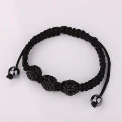 Vienna Jewelry Pave Swarovksi Elements Style Bracelet-Black - Thumbnail 0