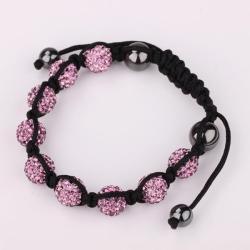 Vienna Jewelry Hand Made Eight Stone Swarovksi Elements Bracelet- Dark Coral - Thumbnail 0