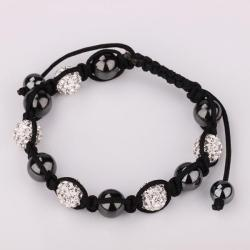 Vienna Jewelry Hand Made Swarovksi Elements Bracelet & Crystal Beads-Diamond