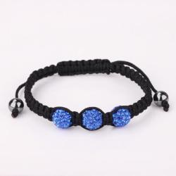 Vienna Jewelry Pave Swarovksi Elements Style Bracelet- Blue Zircon