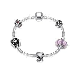 Vienna Jewelry The Beauty of Simplicity Pandora Inspired Bracelet