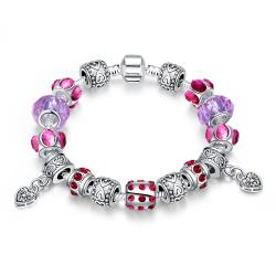 Vienna Jewelry Purple Passion Pandora Inspired Bracelet