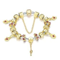 Vienna Jewelry Golden Ruby Pandora Inspired Bracelet