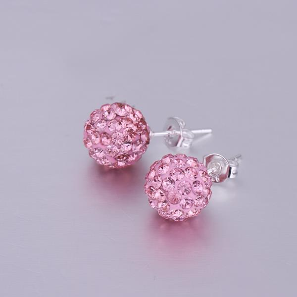Vienna Jewelry Vivid Dark Swarovksi Element Coral Stud Earrings