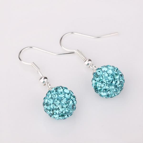 Vienna Jewelry Vivid Saphire Swarovksi Element Crystal Drop Earrings - Thumbnail 0