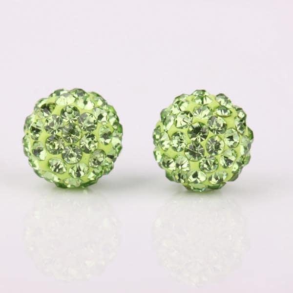 Vienna Jewelry Vivid Light Swarovksi Element Emerald Stud Earrings