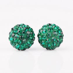 Vienna Jewelry Vivid Vibrant Swarovksi Element Emerald Stud Earrings - Thumbnail 0