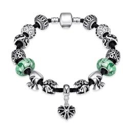 Vienna Jewelry The Luck Of the Irish Pandora Inspired Bracelet