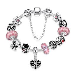 Vienna Jewelry Sweet Bubblegum Pandora Inspired Bracelet