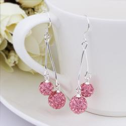 Vienna Jewelry Swarovksi Element Drop Earrings-Bright Coral
