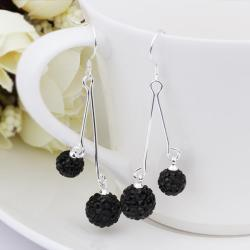Vienna Jewelry Swarovksi Element Drop Earrings-Onyx