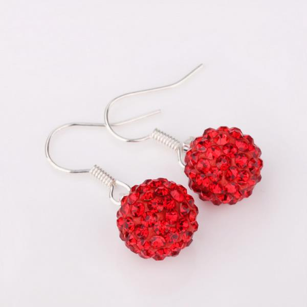 Vienna Jewelry Dark Ruby Swarovksi Element Crystal Drop Earrings