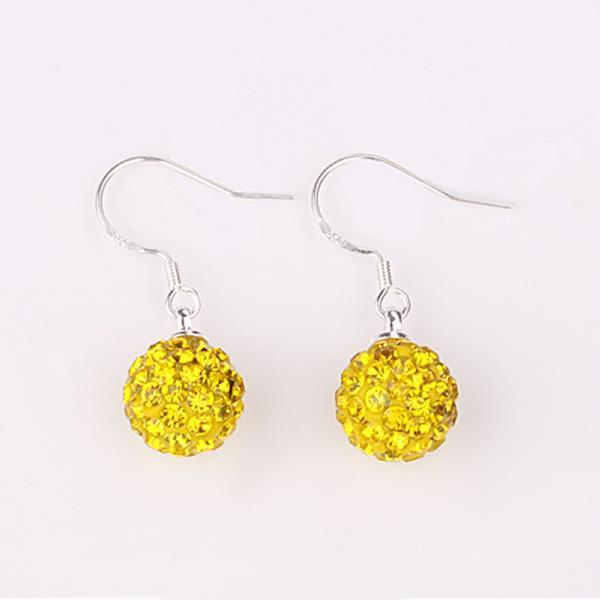 Vienna Jewelry Vivid Light Swarovksi Element Yellow Citrine Drop Earrings