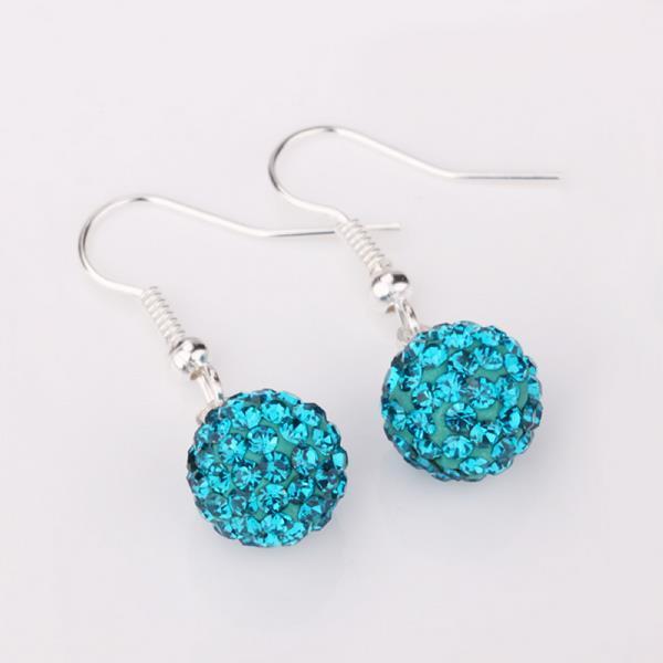 Vienna Jewelry Dark Saphire Swarovksi Element Crystal Drop Earrings