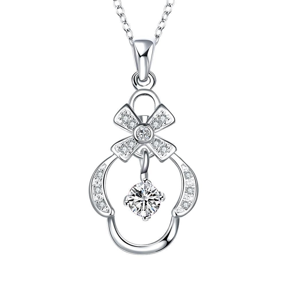 Vienna Jewelry Petite Crystal Stone Crown's Pendant Drop Necklace