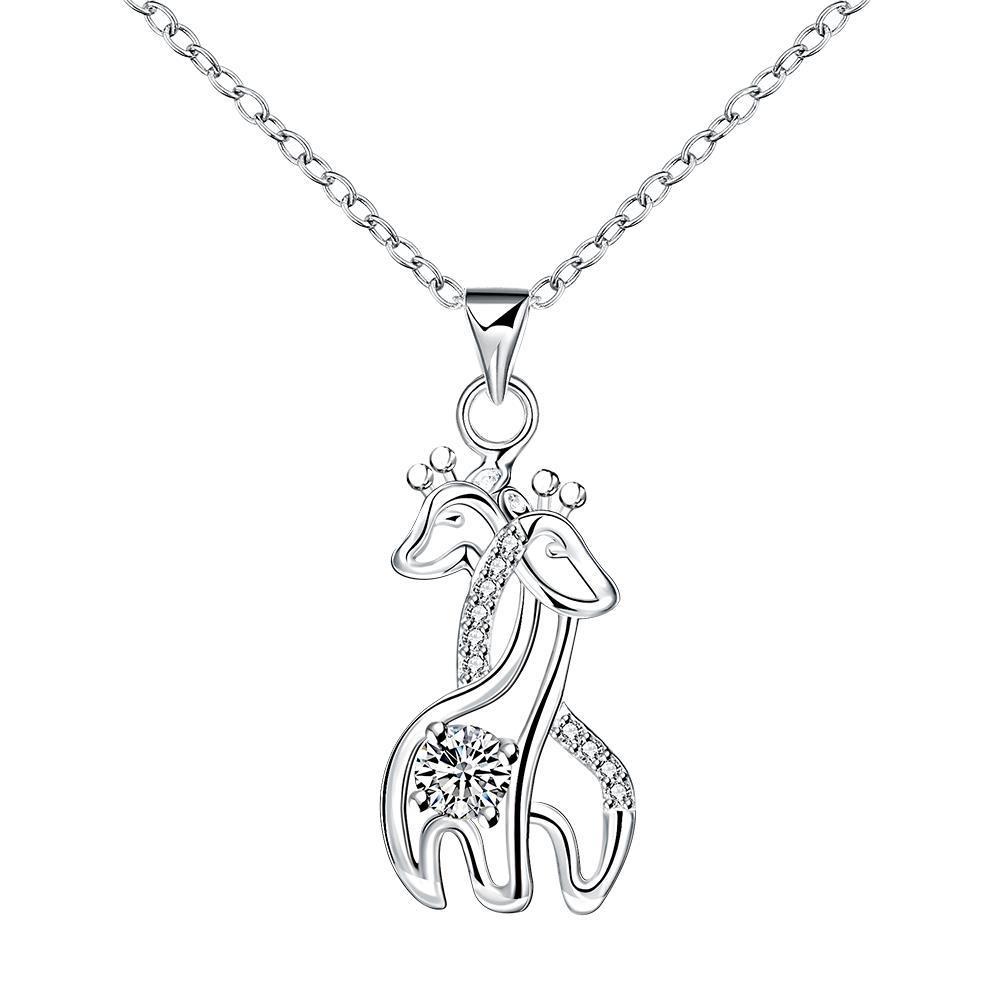 Vienna Jewelry Loving Horses Pendant Necklace