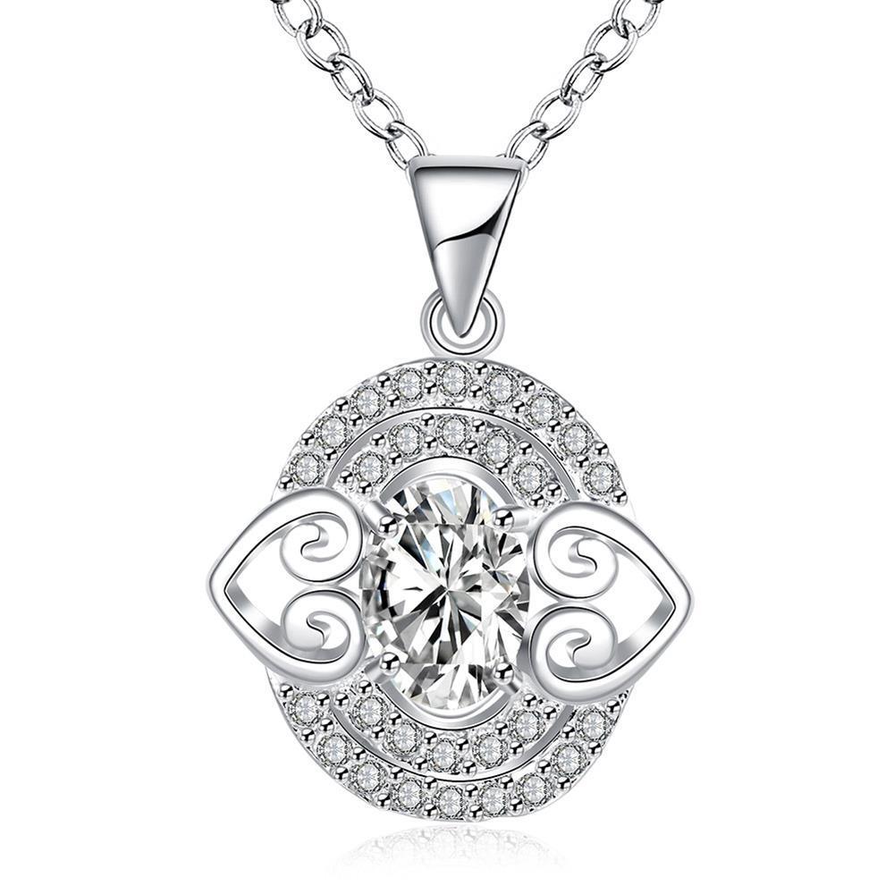 Vienna Jewelry Petite Crystal Stone Gem Circular Drop Necklace