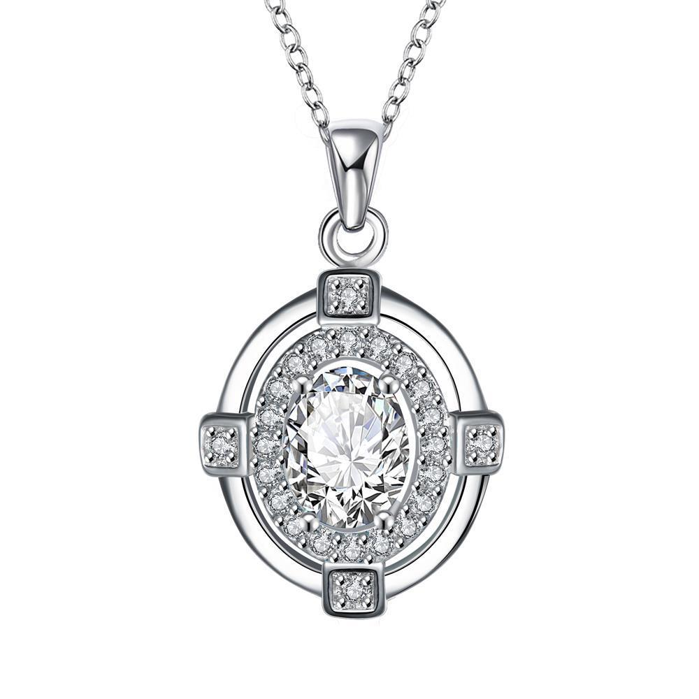 Vienna Jewelry Crystal Stone Pendant Drop Necklace