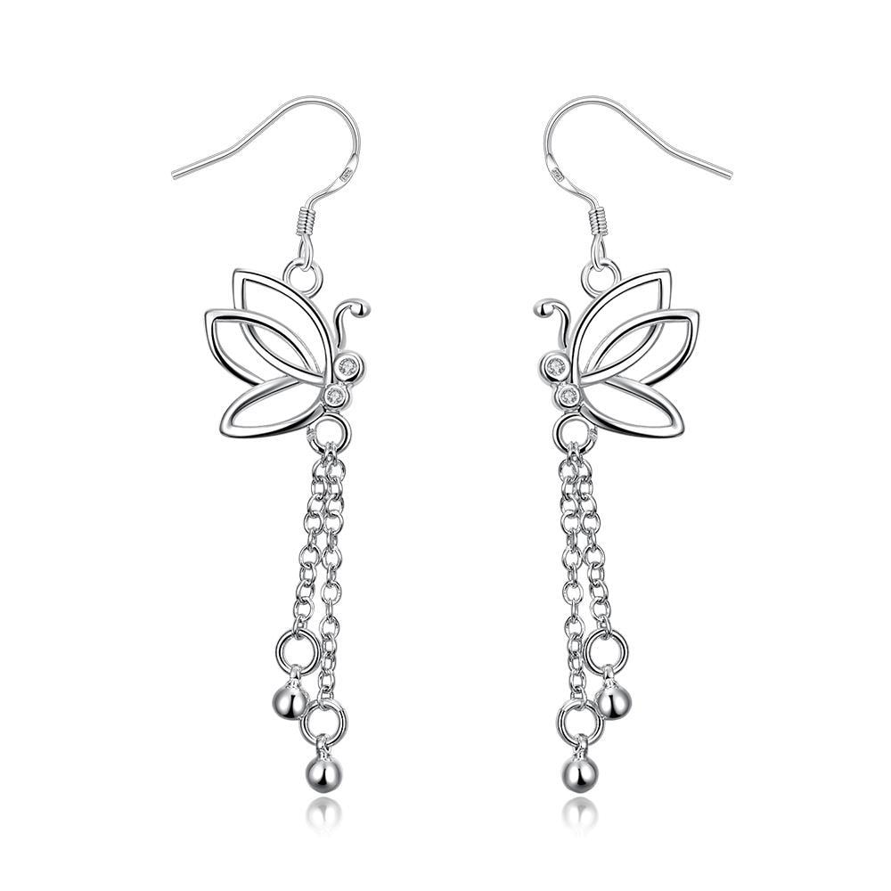 Vienna Jewelry Hollow Butterfly Dangling Jewels Earrings