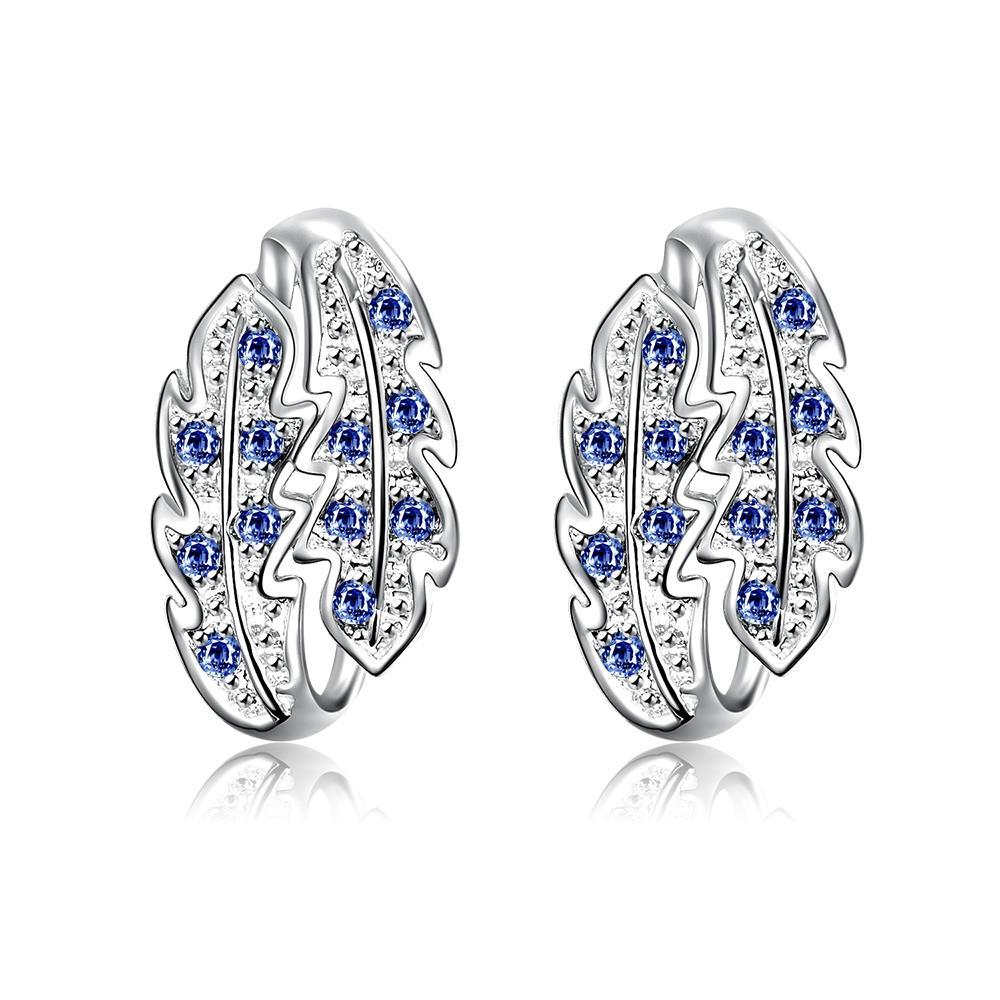 Vienna Jewelry Mock Sapphire Insert Floral Orchid Large Earrings