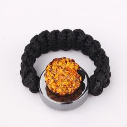 Vienna Jewelry Resizeable Ring made with Austrian Crystal Elements- Orange Citrine - Thumbnail 0