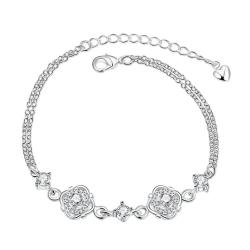Vienna Jewelry Crystal Jewels Covering Emblem Petite Anklet - Thumbnail 0