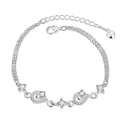Vienna Jewelry Petite Crystal Stone Gem Anklet - Thumbnail 0