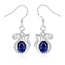Vienna Jewelry Mock Sapphire Open Design Drop Earrings - Thumbnail 0