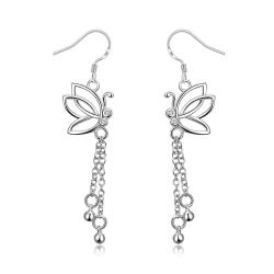 Vienna Jewelry Hollow Butterfly Dangling Jewels Earrings - Thumbnail 0