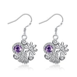 Vienna Jewelry Petite Sapphire Blossoming Floral Drop Earrings - Thumbnail 0