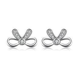 Vienna Jewelry Hollow Love-Knot Jewels Covering Stud Earrings - Thumbnail 0