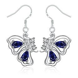 Vienna Jewelry Mock Sapphire Butterfly Wings Drop Earrings - Thumbnail 0