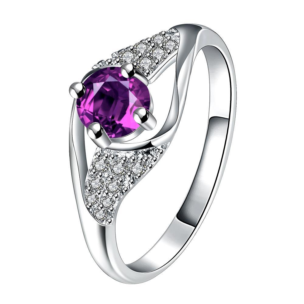 Vienna Jewelry Purple Citrine Spiral Jewels Classical Ring Size 7