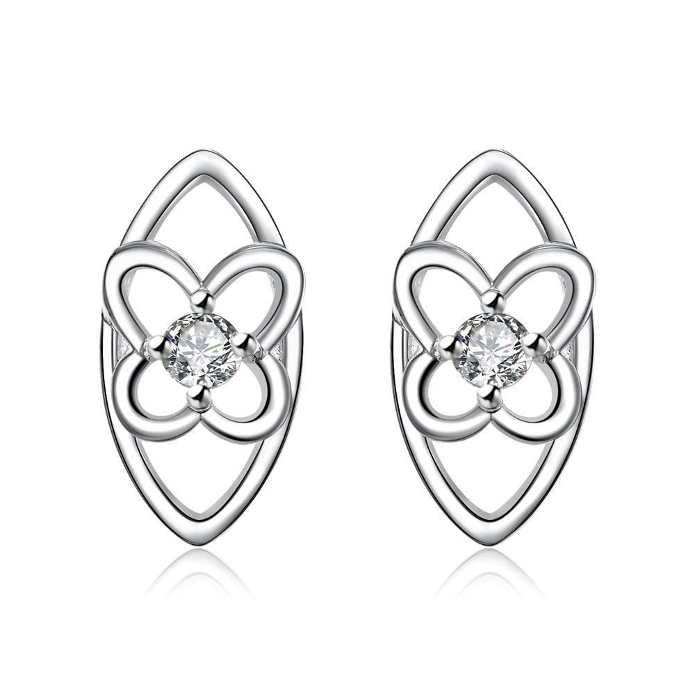 Vienna Jewelry Silver Tone Hollow Laser Cut Spiral Drop Stud Earrings