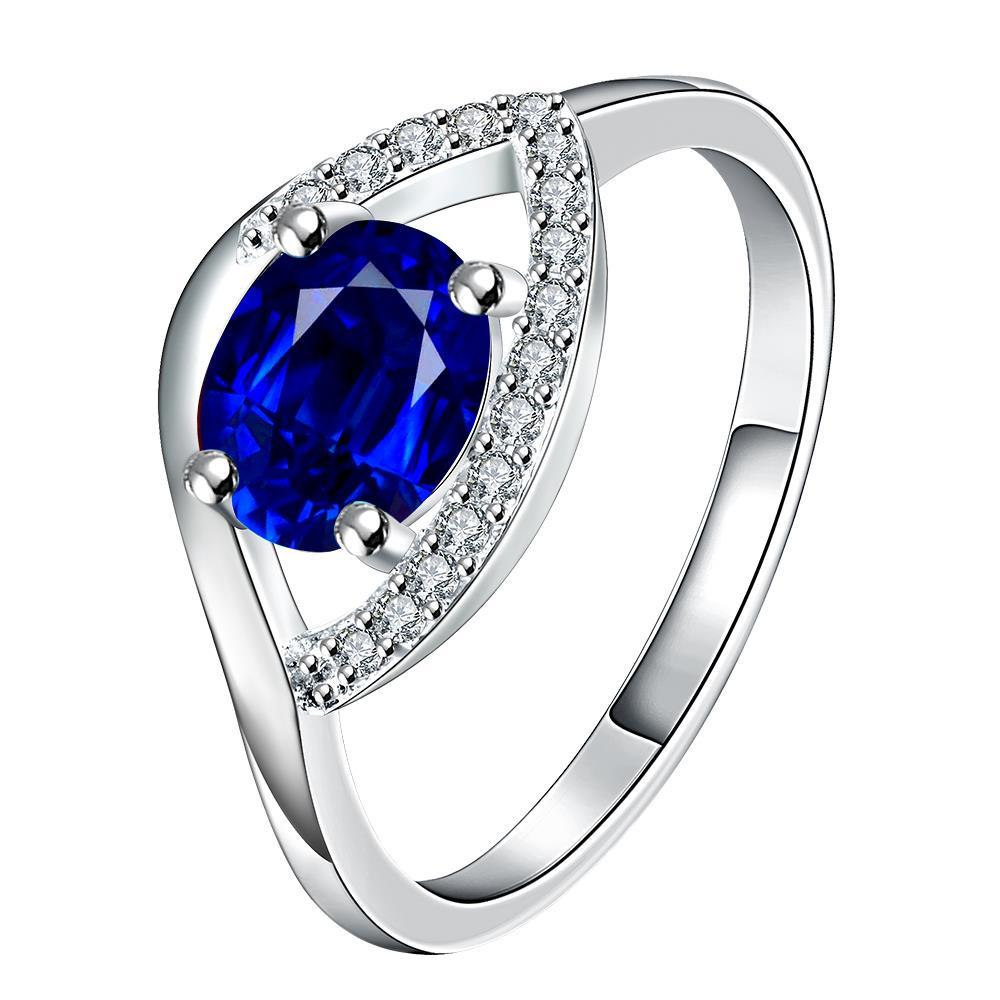 Vienna Jewelry Crystal Trio-Jewels Classical Modern Ring Size 8