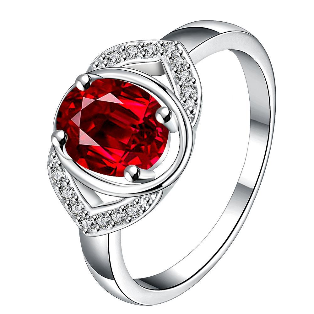 Vienna Jewelry Open Ruby Gem Modern Petite Ring Size 8