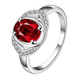 Open Ruby Gem Modern Petite Ring Size 8 - Thumbnail 0