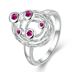 Coral Citrine Petite Gems Swirl Emblem Ring Size 8 - Thumbnail 0