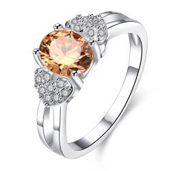 Petite Orange Citrine Crystal Lined Ring Size 7 - Thumbnail 0