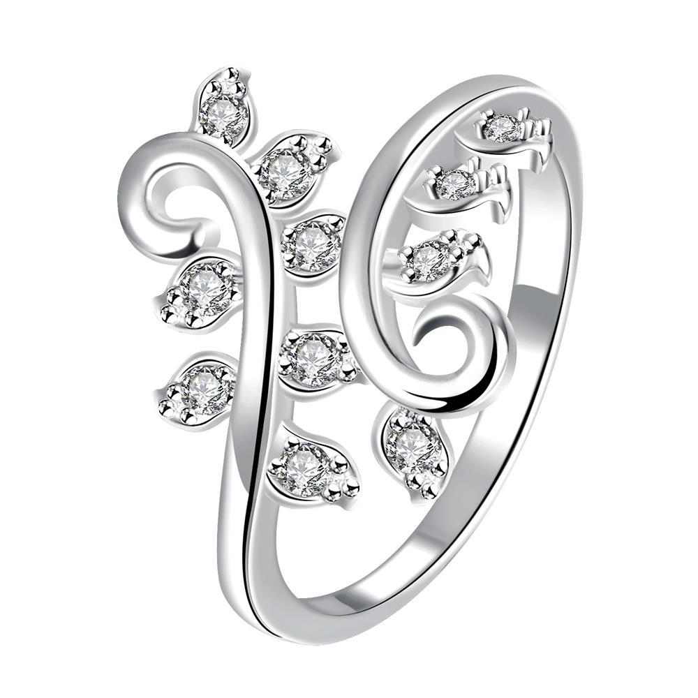 Classic Crystal Multi-Petite Gem Inserted Swirl Ring Size 8