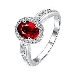 Petite Ruby Gem Jewels Covering Ring Size 7 - Thumbnail 0