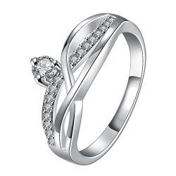 Petite Crystal Stone Gem Spiral Petite Ring Size 7 - Thumbnail 0