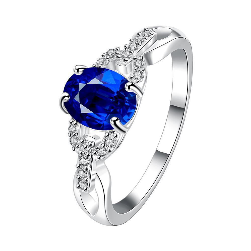 Vienna Jewelry Petite Mock Sapphire Gem Jewels Covering Ring Size 7