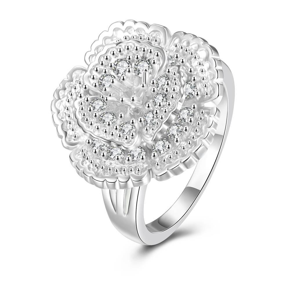 Vienna Jewelry Classical Floral Petal Large Ring Size 8