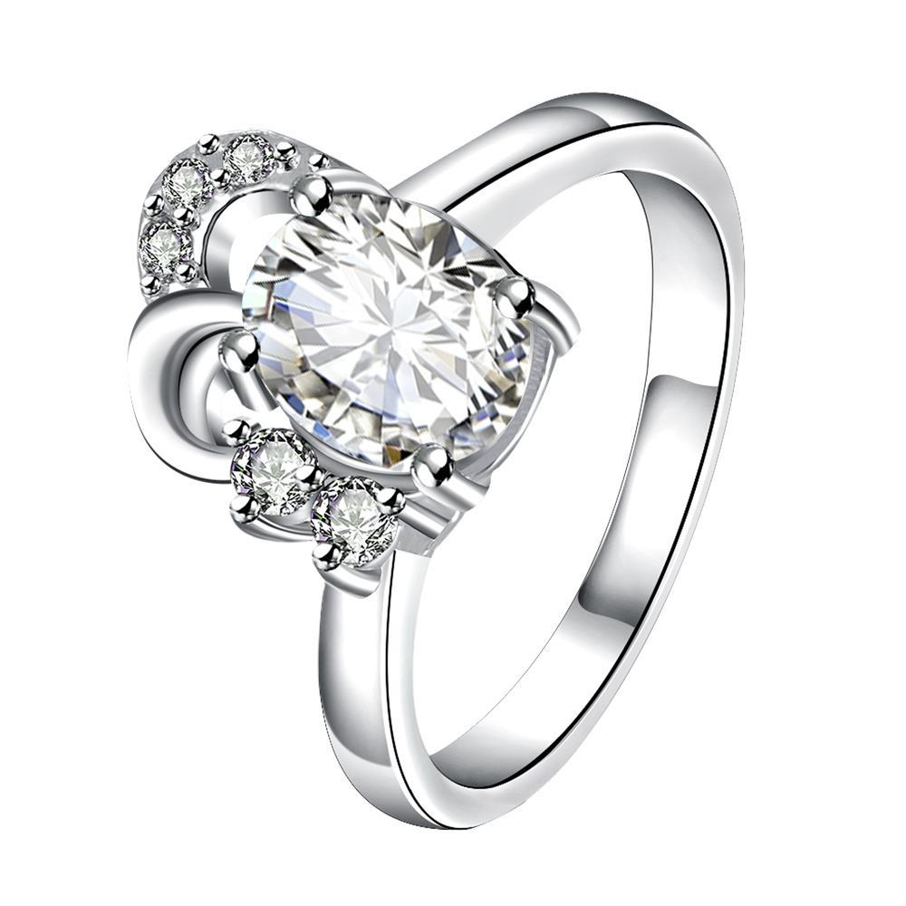 Petite Classic Crystal Curved Jewels Covering Classic Ring Size 8