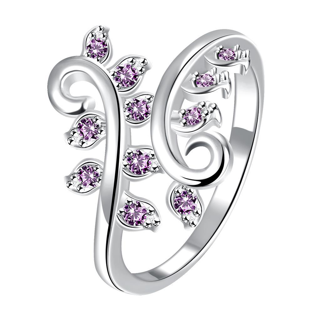 Vienna Jewelry Coral Citrine Multi-Petite Gem Inserted Swirl Ring Size 7