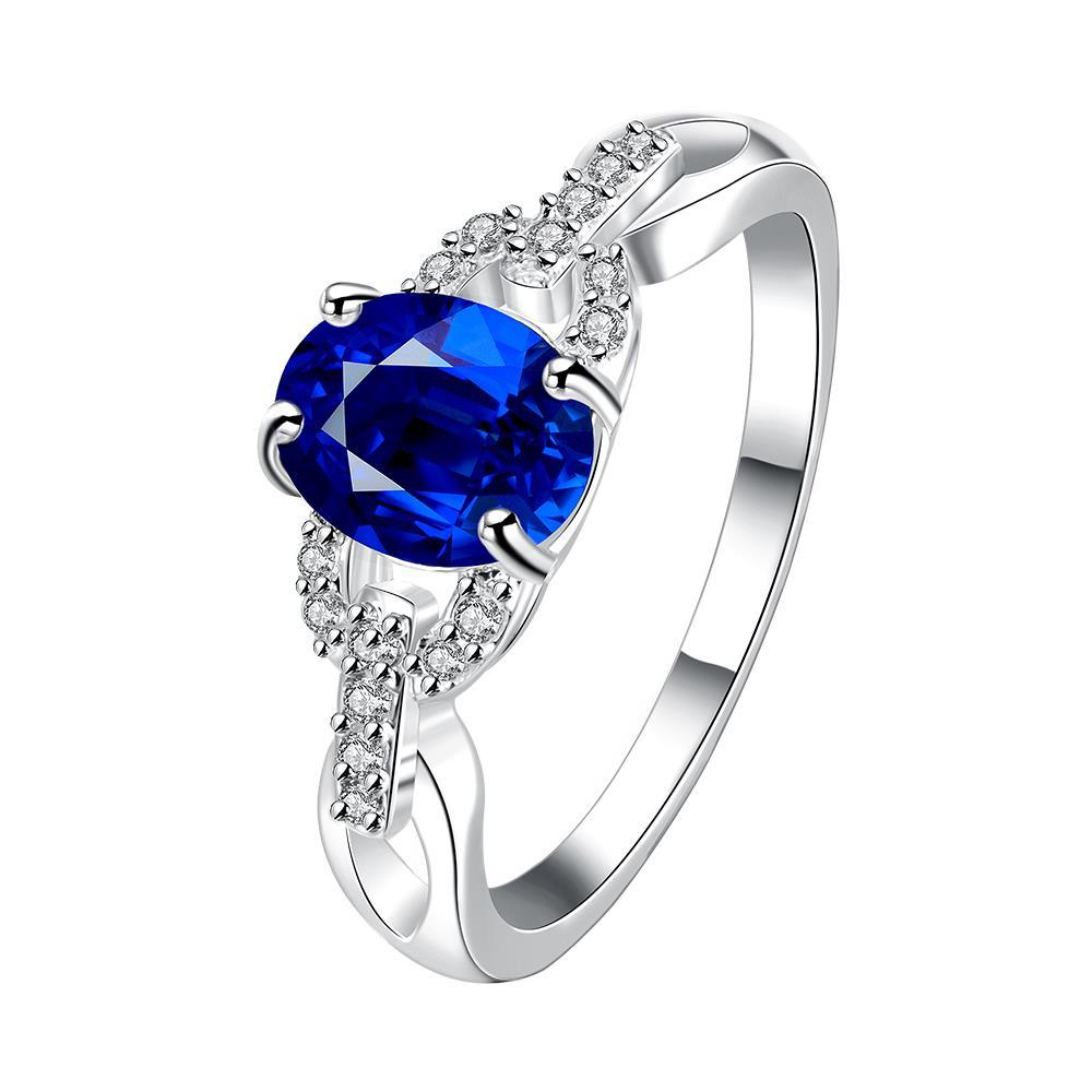 Vienna Jewelry Petite Mock Sapphire Gem Jewels Covering Ring Size 8