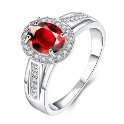 Ruby Red Jewels Covering Petite Ring Size 8 - Thumbnail 0